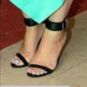 Zara black heels strap
